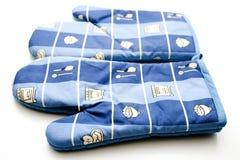 μπλε δοχείο γαντιών Στοκ εικόνες με δικαίωμα ελεύθερης χρήσης