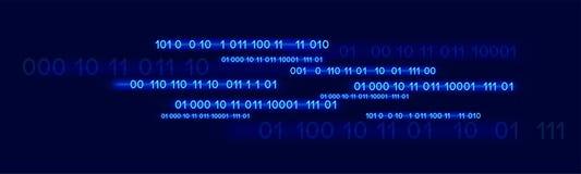 Μπλε δυαδικός βακαλάος νέου στο σκούρο μπλε υπόβαθρο απεικόνιση αποθεμάτων