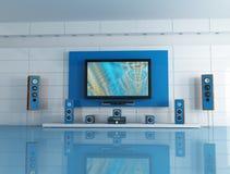 μπλε δωμάτιο κινηματογρά&phi Στοκ φωτογραφία με δικαίωμα ελεύθερης χρήσης