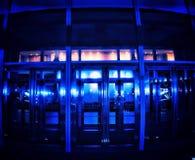 Μπλε δωμάτιο πορτών στοκ εικόνες