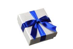 μπλε δώρο τόξων Στοκ φωτογραφία με δικαίωμα ελεύθερης χρήσης