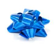 μπλε δώρο τόξων Στοκ Φωτογραφία