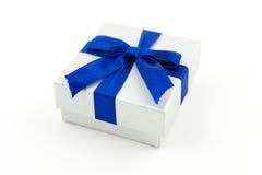 μπλε δώρο τόξων Στοκ Εικόνα