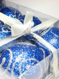μπλε δώρο 7 Στοκ Φωτογραφία