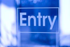 μπλε είσοδος Στοκ φωτογραφία με δικαίωμα ελεύθερης χρήσης