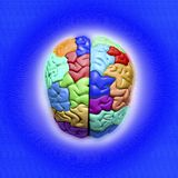 μπλε εγκέφαλος Στοκ φωτογραφία με δικαίωμα ελεύθερης χρήσης