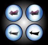 μπλε εικονίδια βελών aqua Στοκ Εικόνες