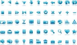 μπλε εικονίδια διανυσματική απεικόνιση