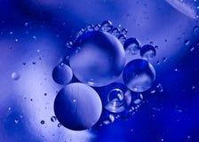 Μπλε εικόνα νερού και ελαίου Στοκ Φωτογραφία