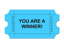 μπλε εισιτήριο διανυσματική απεικόνιση
