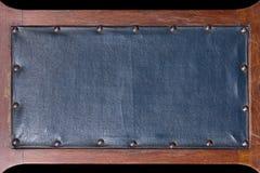 Μπλε εκλεκτής ποιότητας πινακίδα δέρματος Στοκ Εικόνες