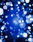 Μπλε ελαφριά ανασκόπηση Bokeh Στοκ φωτογραφία με δικαίωμα ελεύθερης χρήσης