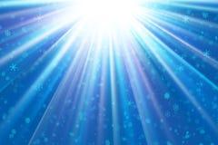 μπλε ελαφριά snowflakes Στοκ εικόνα με δικαίωμα ελεύθερης χρήσης