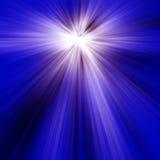 μπλε ελαφριές ακτίνες Στοκ Εικόνες