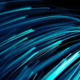 Μπλε ελαφριές γραμμές στο Μαύρο στοκ εικόνες με δικαίωμα ελεύθερης χρήσης