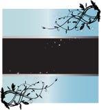 μπλε ελαφρύ έναστρο κείμενο πλαισίων Στοκ εικόνες με δικαίωμα ελεύθερης χρήσης