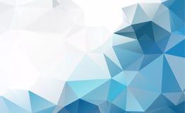Μπλε ελαφρύ Polygonal χαμηλό υπόβαθρο σχεδίων τριγώνων πολυγώνων διανυσματική απεικόνιση
