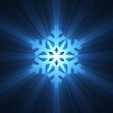 μπλε ελαφρύ snowflake φλογών Χρισ ελεύθερη απεικόνιση δικαιώματος