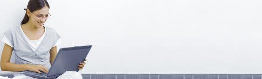 μπλε εμβλημάτων Στοκ Εικόνες