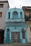 Μπλε εξωτερικό οικοδόμησης, Αβάνα, Κούβα Στοκ Εικόνες