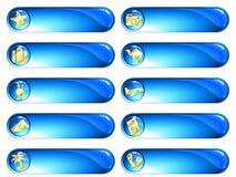 μπλε εξωτικές χρυσές δια Στοκ Εικόνες
