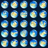 μπλε εξωτικές χρυσές δια Στοκ φωτογραφία με δικαίωμα ελεύθερης χρήσης