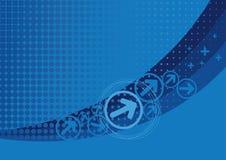 μπλε επίδραση ανασκόπηση&sig απεικόνιση αποθεμάτων