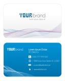 μπλε επαγγελματική κάρτ&alp Στοκ Εικόνες
