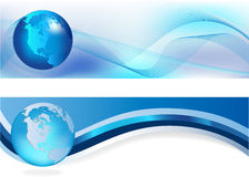 μπλε επικεφαλίδες Στοκ Εικόνες