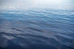 Μπλε επιφάνεια νερού ως υπόβαθρο κύματα στην επιφάνεια του νερού στοκ εικόνες
