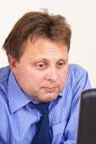 μπλε επιχειρηματίας Στοκ εικόνα με δικαίωμα ελεύθερης χρήσης
