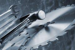 μπλε εργαλεία έννοιας Στοκ Φωτογραφία
