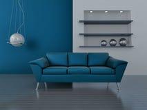 μπλε εσωτερικοί τόνοι στοκ εικόνα με δικαίωμα ελεύθερης χρήσης