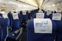 Μπλε εσωτερικό αεροπλάνων αέρα Στοκ Φωτογραφίες