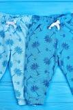 Μπλε εσώρουχα μωρών σύγχρονου σχεδίου Στοκ φωτογραφία με δικαίωμα ελεύθερης χρήσης