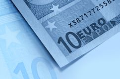 μπλε ευρο- χρήματα ανασκόπησης Στοκ φωτογραφία με δικαίωμα ελεύθερης χρήσης