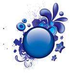 μπλε ζωηρόχρωμο grunge κουμπιώ&n Διανυσματική απεικόνιση