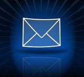 μπλε ηλεκτρονικό ταχυδρομείο Στοκ Φωτογραφίες