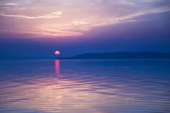 Μπλε ηλιοβασίλεμα Στοκ Φωτογραφίες