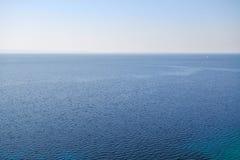 μπλε θάλασσα τοπίων Στοκ Εικόνες