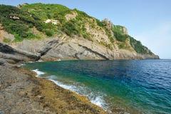 μπλε θάλασσα riviera portofino πάρκων της Ιταλίας ακτών Στοκ φωτογραφίες με δικαίωμα ελεύθερης χρήσης