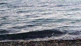 Μπλε θαλάσσιο νερό γκρι χάλυβα απόθεμα βίντεο