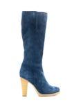 μπλε θηλυκό μποτών shammy Στοκ Φωτογραφίες