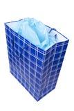 μπλε ιστός εγγράφου δώρω&nu Στοκ εικόνες με δικαίωμα ελεύθερης χρήσης