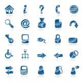 μπλε Ιστός εικονιδίων Στοκ εικόνες με δικαίωμα ελεύθερης χρήσης