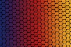 Μπλε, ιώδες, κόκκινο, πορτοκαλί και κίτρινο υπόβαθρο, επίδραση δερμάτων σαυρών στοκ φωτογραφία