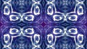 Μπλε ιώδες loopable αφηρημένο υπόβαθρο μορίων με το βάθος του τομέα, τα σπινθηρίσματα πυράκτωσης των φω'των και τα ψηφιακά στοιχε φιλμ μικρού μήκους