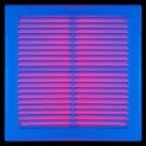 Μπλε κάγκελα εξαερισμού Στοκ Εικόνες