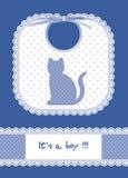 μπλε κάρτα μωρών Στοκ φωτογραφία με δικαίωμα ελεύθερης χρήσης