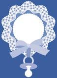 μπλε κάρτα μωρών Στοκ Εικόνα